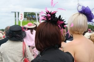 Ladies drinks not exercising at the races