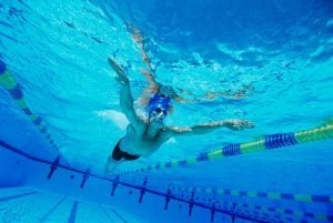 Get that chiselled core by doing plenty of swimming