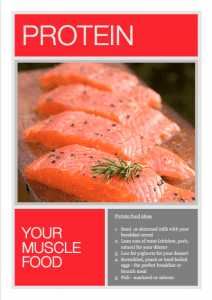 Boost your muscles growth with salmon fillets