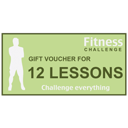 Personal trainer gift voucher for twelve lessons