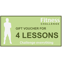 Personal trainer gift voucher for four lessons