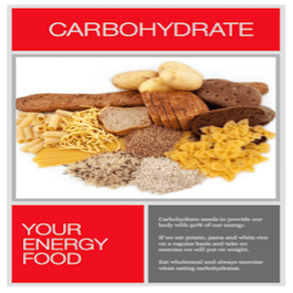 Carbohydrate - your energy fuel. Pasta, rices, breads. But not too much when you're not exercising