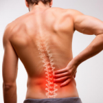 Man with a back injury